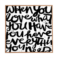DENY Designs If You Love by Kal Barteski Framed Textual Art