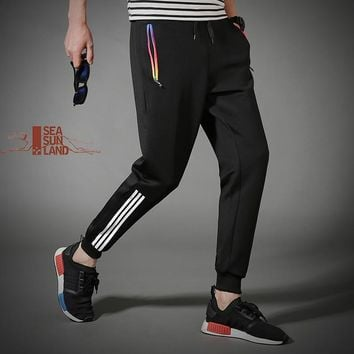 SeaSunLand Men Brand Pants Joggers sweatpants Casual Pants Elastic Fitness Skinny Harem Design Pants Workout Trousers Male 4XL