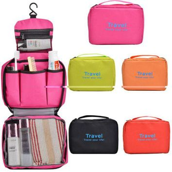 CREYU3C Travel Multifunction Travel Hanging Cosmetic Bag Picnic Sorting Hanging Wash Bag Make Up Organizer bag