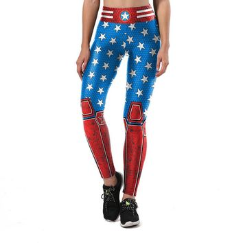Superhero Stars Armor Leggings