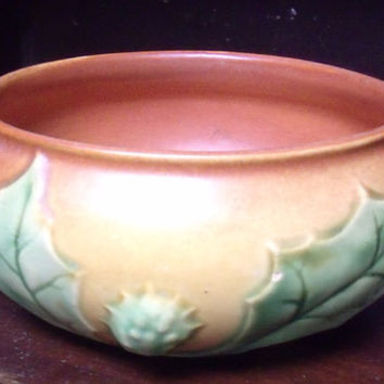 Roseville Pottery Thornapple Brown Bowl 306-5