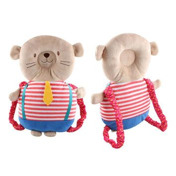 Toddler Backpack class Baby Plush Toys Head Protection Backpack Supports Toddler Headrest Pillow Baby Neck Cushion Cute Cartoon Animal Fox Bear AT_50_3