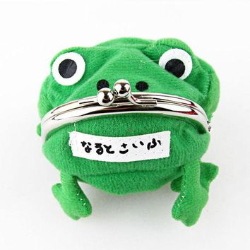 ONETOW 2016 Anime Cartoon Wallet Coin Purse Originality Fashion Frog Wallet Manga Flannel Wallet Cheap Cute Purse Naruto Purse