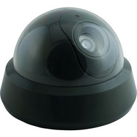 Ge Mock Security Camera With Led Light Dome Shape