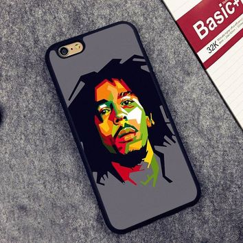bob marleys rasta Soft Silicone Full Protective case Cover For iPhone X 8 7 7Plus 6 6S Plus 5 5S SE
