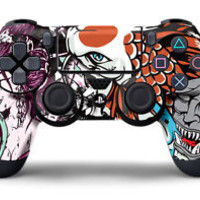 Designer Skin Sticker for PS4 Playstation 4  Dualshock Controller Decal TSUNAMI