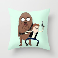 Space Adventure! Mans Best Friend Throw Pillow by Ludwig Van Bacon