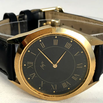 "LARGE Vintage Men's watch called ""RAY"" (LUCH), mechanical, round face watch. Soviet watch. Gift for him"