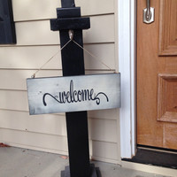 Welcome Sign Post, Porch Post, Porch Decor, Welcome Sign, Porch Decor, Sign Post