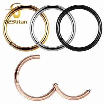 Rose Gold Color Septum Rings G23 Titanium Open Small Earrings Women Men Ear Nose Piercing Jewelry