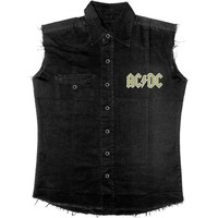AC/DC Men's  Rock Or Bust Work Shirt Black Rockabilia