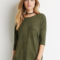 Dolman-Sleeved Pocket Top