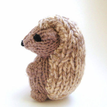 Stuffed Hedgehog Knitting Pattern : Best Miniature Knitting Products on Wanelo