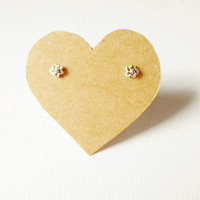 5 mm Small Forget- Me-Not Post Stud Earrings.92.5% Oxidized Sterling Silver. Cartilage/Lip/ Nose/ Earrings. Lovely Cute design.Gift under 10