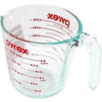 Pyrex Glass Measuring Cup 2 Cup ( 16 Oz ) Glass Red