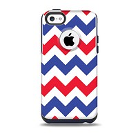 The Patriotic Chevron Pattern Skin for the iPhone 5c OtterBox Commuter Case