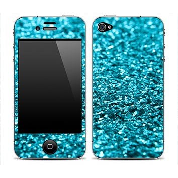 Turquoise Blue Glimmer Skin for the iPhone 3gs, 4/4s or 5