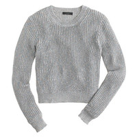 J.Crew Womens Ribbed Shimmer Sweater
