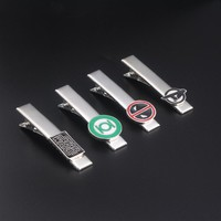 2017 New Movie Star Wars Green Lantern Deadpool Captain America A Letter Tie Clips Fashion Individuality Jewelry