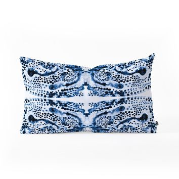 Elisabeth Fredriksson Symmetric Dream Blue Oblong Throw Pillow