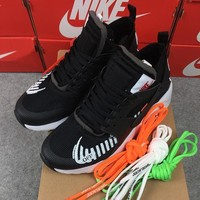 OFF White x Nike Air Huarache Ultra 4 Run Running Shoes Black White AA3841-002 - Best Online Sale