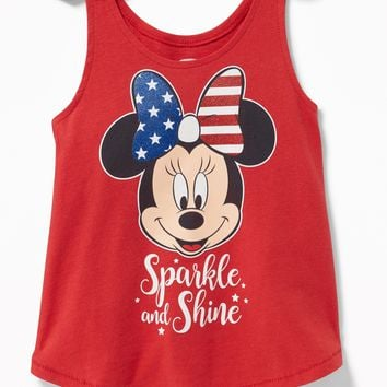 "Disney© Minnie Mouse ""Sparkle and Shine"" Tank for Toddler Girls