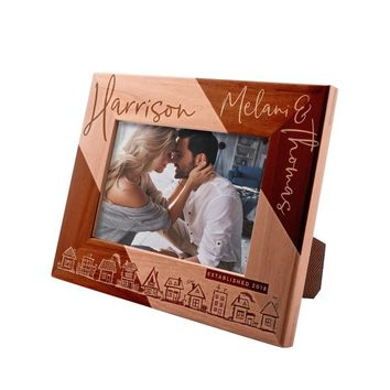 Personalized Picture Frame 4x6 - Personalized Romantic, Wedding and Engagement Photo Frame, Valentine's Day Keepsake Gift for Couples