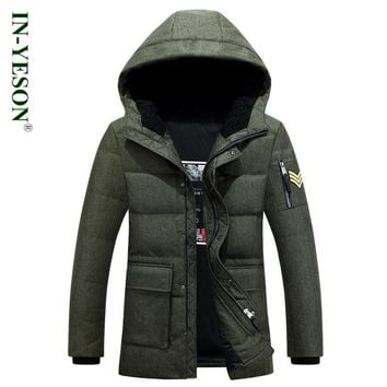 New Arrival Men's Down Jackets Brand Clothing Military Style Warm Thicken White Duck Down Parka Padded Coat Hooded Jackets