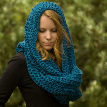 PATTERN Oversized Hooded Infinity Scarf from WellRavelled on Etsy