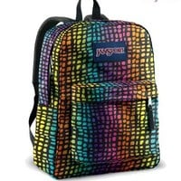 JANSPORT SUPERBREAK BACKPACK SCHOOL BAG - Black / Multi Reptile -9CT