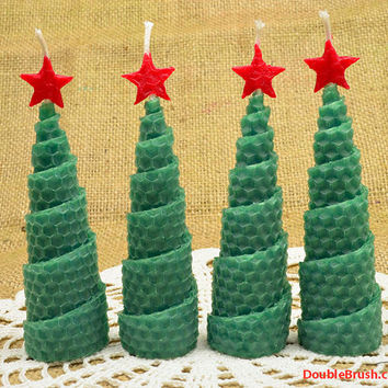 Christmas Tree Candles Set of 4 Shipping Included US