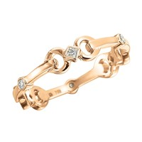 Gumuchian 18K Gold & .15ct Diamond Gallop Stackable Ring | Jewelista