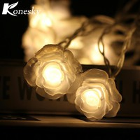 LED Love Rose String Lighting 10-LED Night Light Flower fairy lights Party Wedding Christmas Fairy Decor