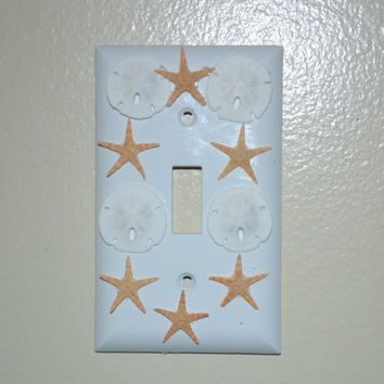 Sand Doller and Starfish Light Switch Plate