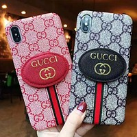 GUCCI New fashion more letter print couple protective cover phone case