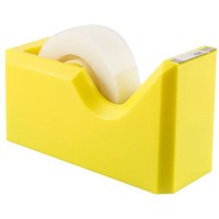 "JAM Paper® Colorful Tape Dispensers - 4 1/2"" x 2 1/2"" x 1 3/4"" - Yellow Tape Dispenser - Sold Individually"