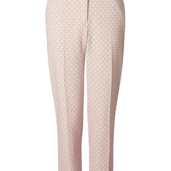 Pink Jacquard Trouser - Pants - Apparel