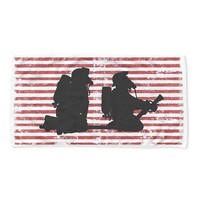 Striped Firefighter Beach Towel