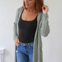 Get A Little Closer Cardigan - Leaf Green