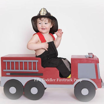 PJ's Toddler Fire Truck Prop, Wooden Toddler Prop