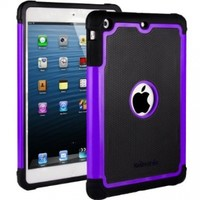 HHI Aero Armor Case for iPad Mini 3, iPad Mini Retina Display and iPad Mini - Purple (Package include a HandHelditems Sketch Stylus Pen)