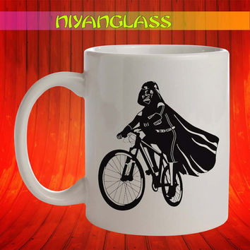Darth Vader bicycle mug, Darth Vader bicycle cup, Darth Vader bicycle,  personalized cup, funny mugs, birthday ceramic mug