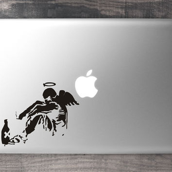 Banksy Broken Angel Macbook Decal From Vinylinfusion Co Uk