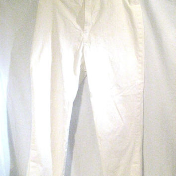 GAP Capri Pants Women's Size 4 Stretch White Lined Cut and Comfy