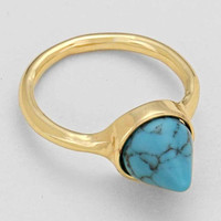 """Cone Stone Rings Turquoise 0.3""""Height 0.75""""Diagram"""