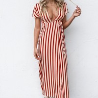 AMUSE SOCIETY Fit To Be Tied Sand Dress