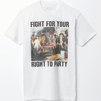 Riot Society Fight For Your Right T-Shirt - Mens Tee - White