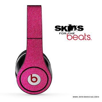 Pink Fabric Skin for the Beats by Dre