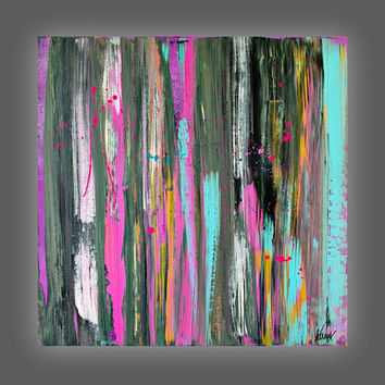 Abstract, Painting, Art, Colorful Abstract, Acrylic Painting, Modern art on Canvas, Art by Heroux