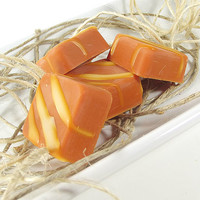 "Soy Candle Tarts - Pumpkin Pie scented ""Truffle"" Tarts -- (4)One Ounce Squares"